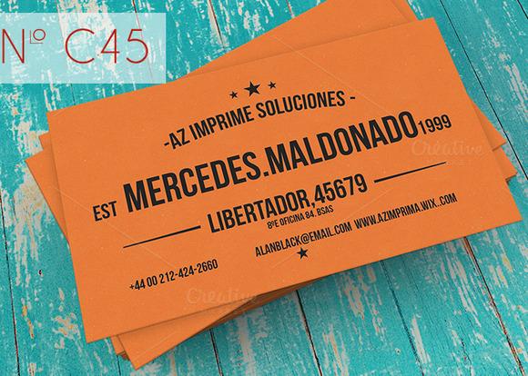 Orange Retro Business Card