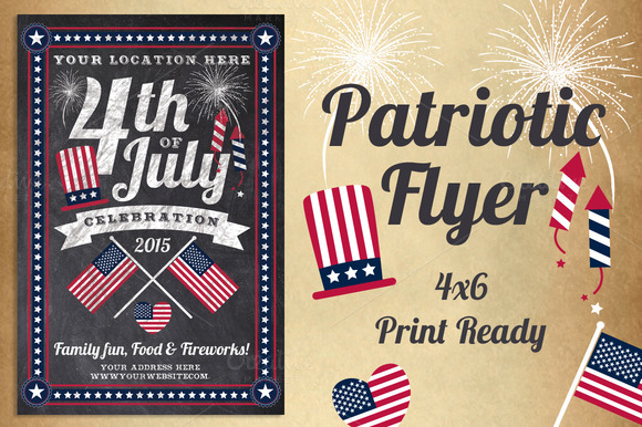 Chalk Patriotic Flyer