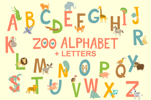 Zoo English Alphabet With Animals