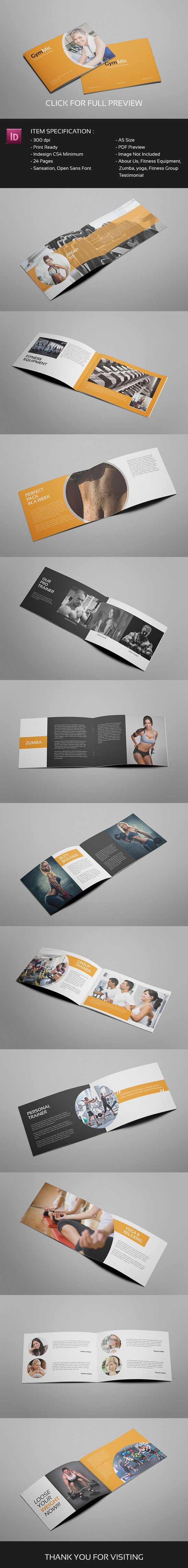 Gymmic A5 Fitness And Gym Brochure