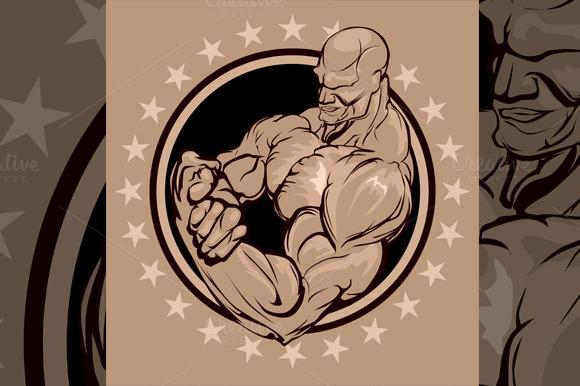 Bodybuilder Emblem