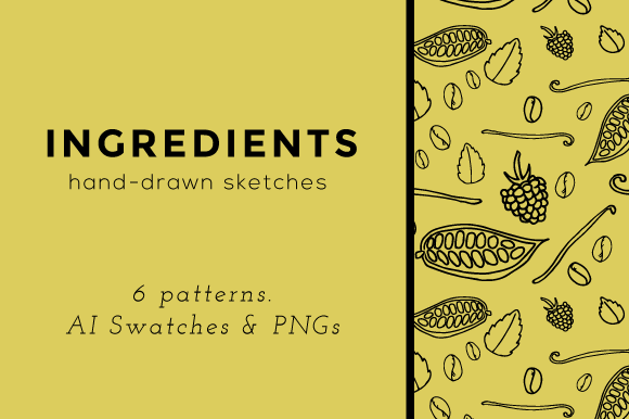 Hand-drawn Ingredient Patterns