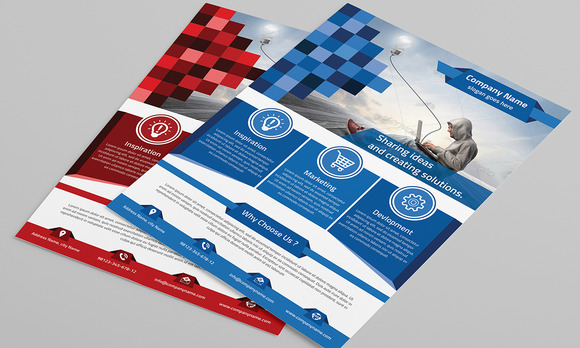 Corporate Flyer Template 0123451