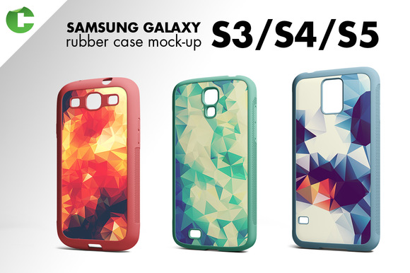 Galaxy S3 S4 S5 Rubber Case Mock-up