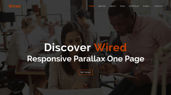 Wired Responsive Parallax One Page