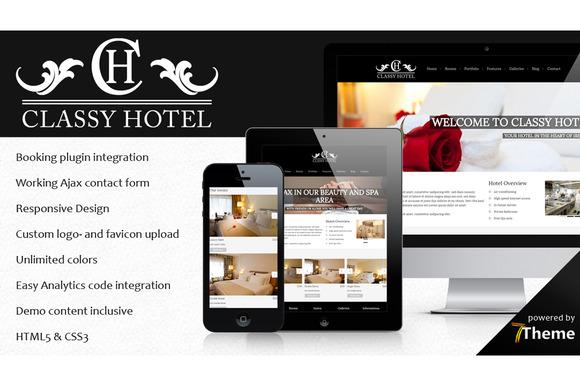 Classy Classic Hotel WP Theme