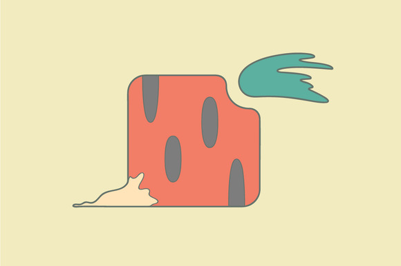 Stylized Carrot Flat Icon