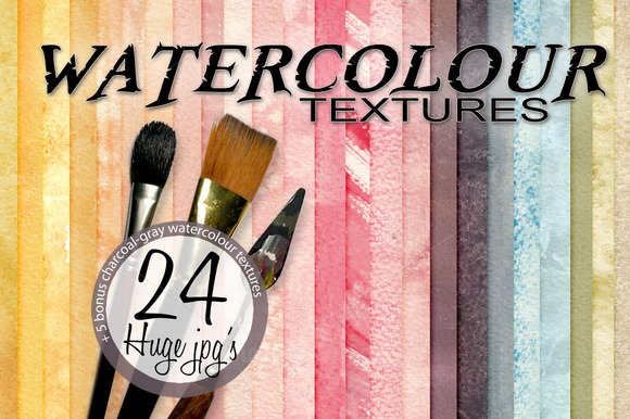 24 Watercolour Textures
