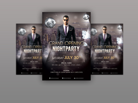 Grand Party Flyer PSD Template