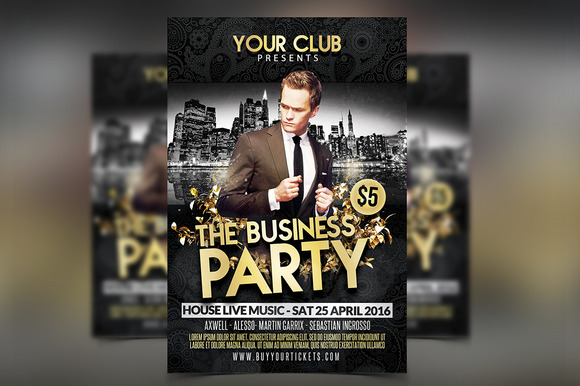 Business Party Flyer Template PSD