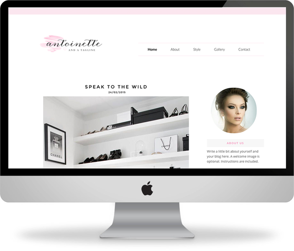 The Antoinette Blogger Template