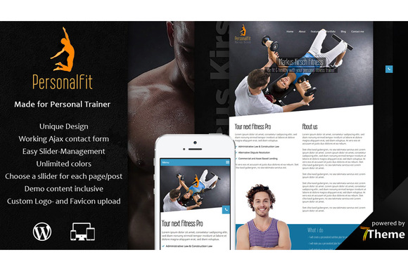 PersonalFit Sport Gym WP Theme