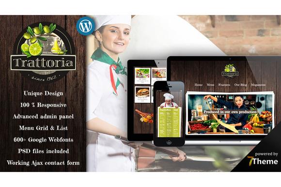 Trattoria Rustic Restaurant Theme