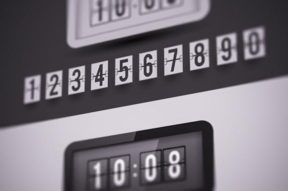 Flap Type Clock Numbers Set