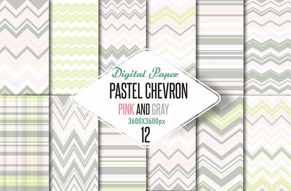 Pastel Chevron Pink-grey Paper