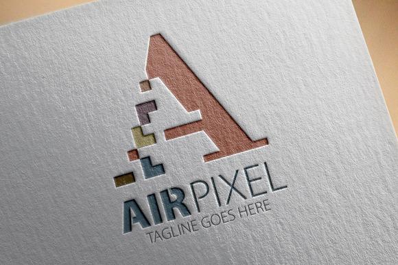 Air Pixel A Letter Logo