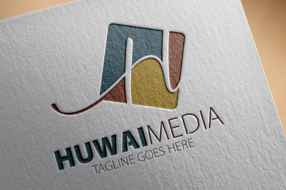 Huwai Media H Letter Logo