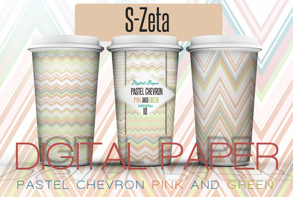 Pastel Chevron Pink-green Paper