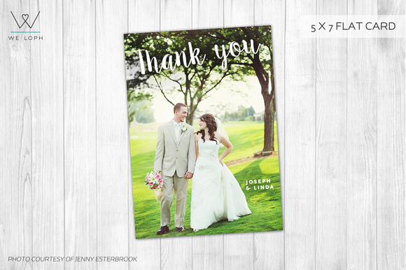 Thank You Card Wedding Template
