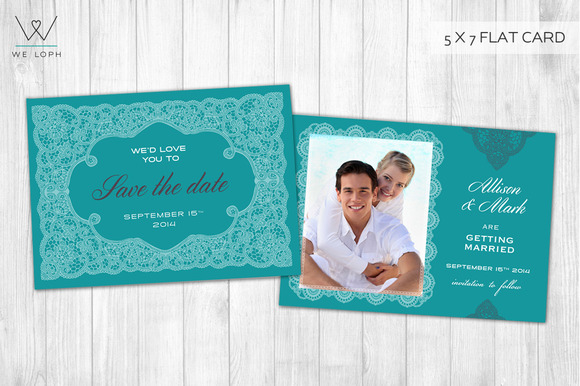 Elegant Save The Date Template Card