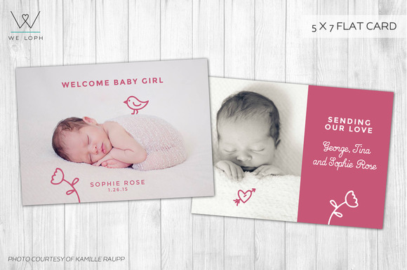 New Born Card Template
