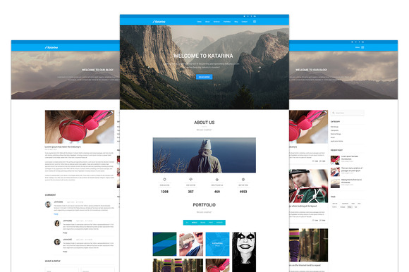 Katarina One Page PSD Template