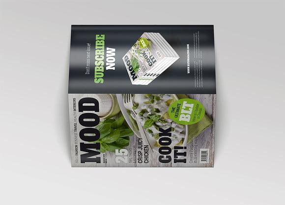 Bi-Fold A5 Brochure Leaflet Mockup