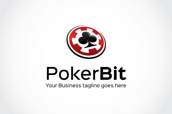 Poker Bit Logo Template