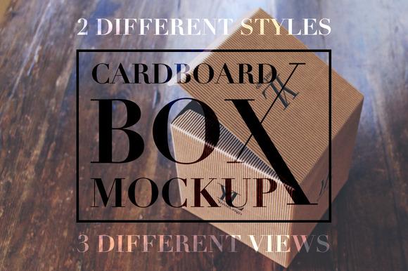 Cardboard Box Mockup