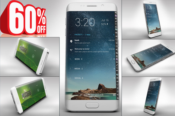 Bundle Samsung Galaxy S6 Edge Mockup