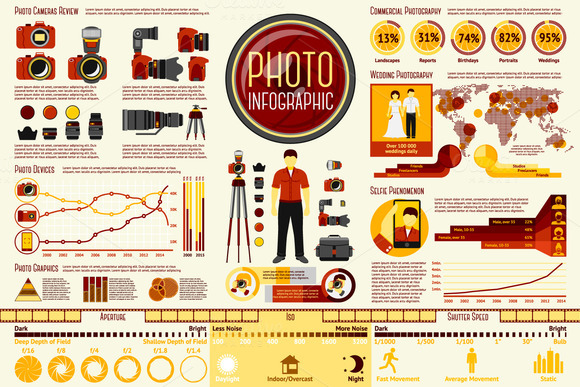 Photo Infographics Set