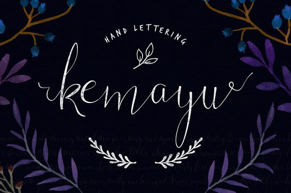 Kemayu Hand Lettering Vector Bonus