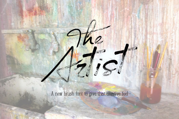 The Artist Brush Font