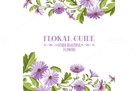 Flower Background With Violet Flower