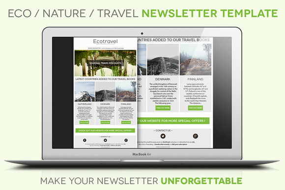 Eco Travel Newsletter Template