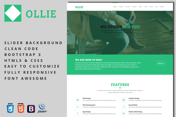 Ollie Business Template