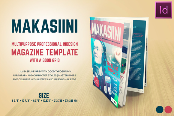 Makasiini Indesign Mag Template
