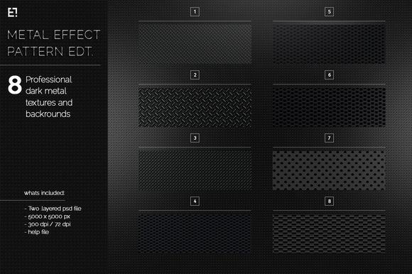 Black Dark Metal Pattern And Texture