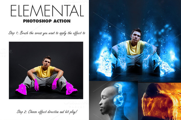 Elemental Photoshop Action