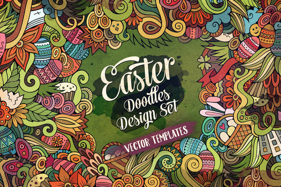 Easter Doodles Design Pack