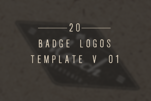 20 Vintage Badge Logos Template V 01