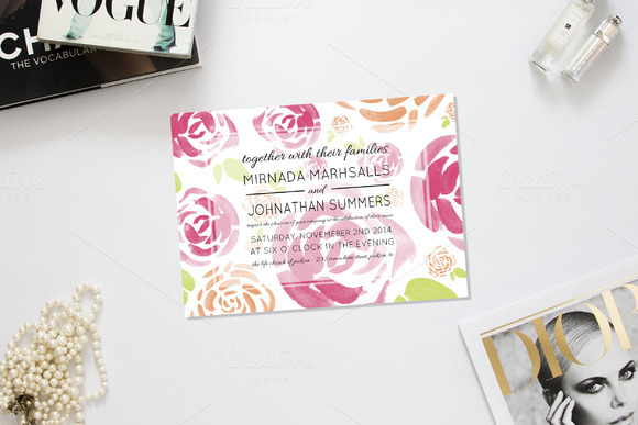 Spring Fling Wedding Invitation