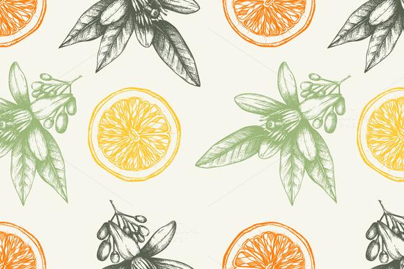Orange Pattern Set