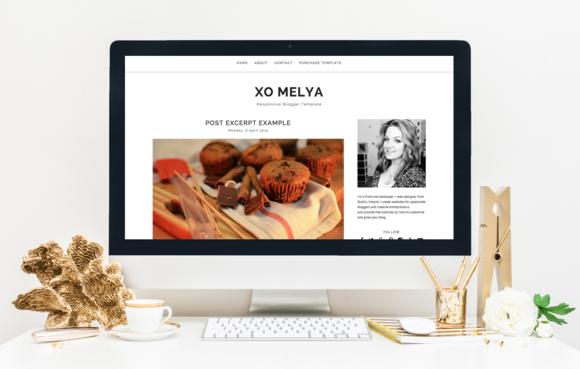 RESPONSIVE BLOGGER TEMPLATE XOMELYA