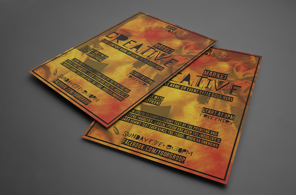 Fire Style Flyer Template