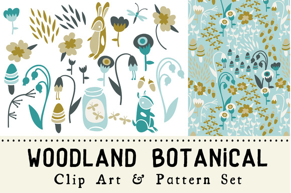 Woodland Botanical Clip Art Set