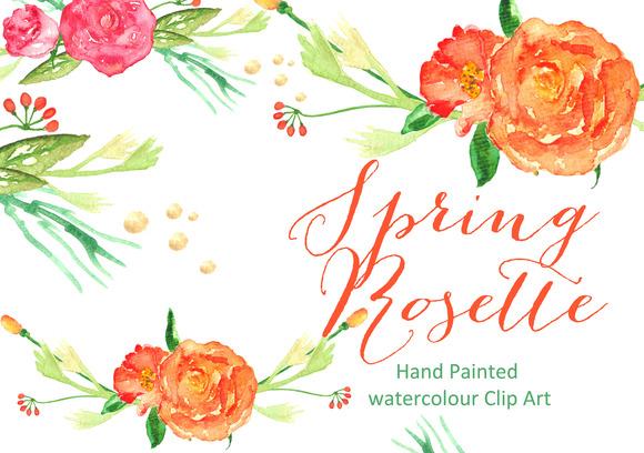 Rose Watercolor Clip Art