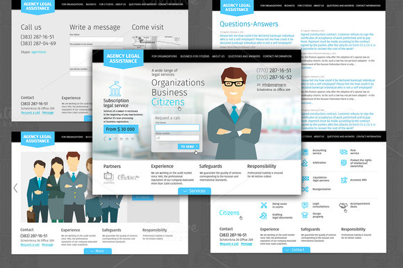 PSD Template Law Company Website