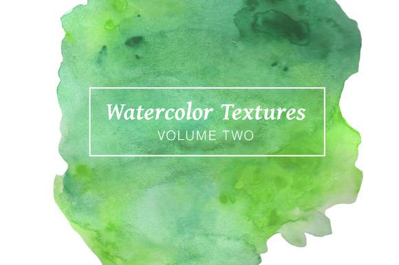 Green Watercolor Textures Volume 2