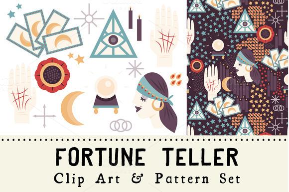 Fortune Teller Clip Art Pattern